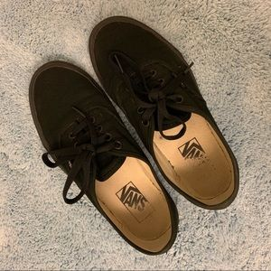 All-Black Vans - Size 7